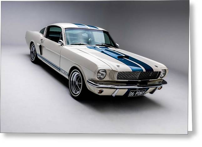 Greeting Card featuring the photograph 1966 Mustang Gt350 by Gianfranco Weiss