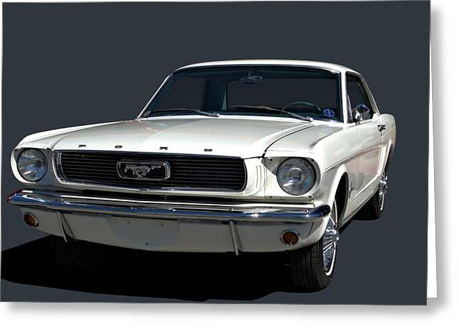 Greeting Card featuring the photograph 1966 Mustang by Tim McCullough