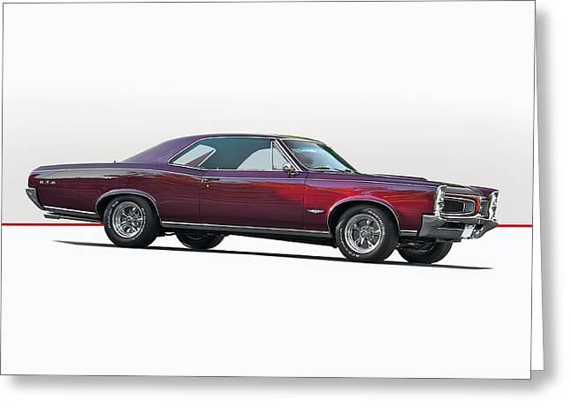 1966 Pontiac Gto Greeting Card by Dave Koontz