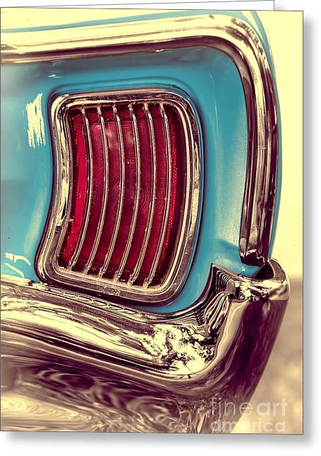 1966 Pontiac Tempest Taillight Greeting Card by Henry Kowalski