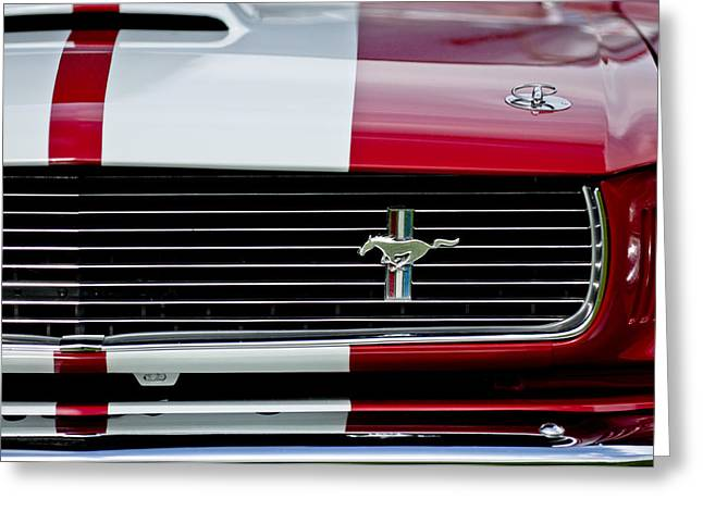 1966 Shelby Cobra Gt 350 Grille Emblem Greeting Card by Jill Reger