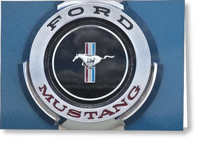 Mustang Gt350 Greeting Cards - 1966 Shelby GT 350 Emblem Gas Cap Greeting Card by Jill Reger