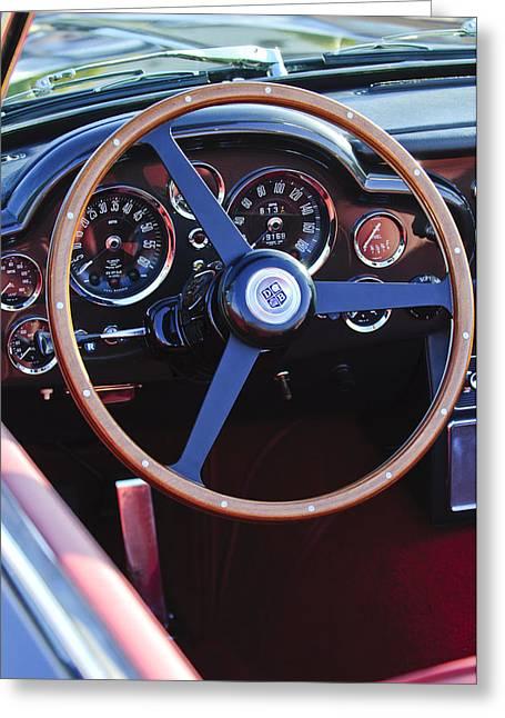 1967 Aston Martin Db6 Volante Steering Wheel Greeting Card