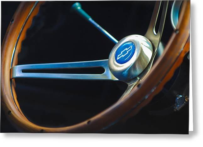 1967 Chevrolet Camaro Ss 350 Steering Wheel Emblem Greeting Card