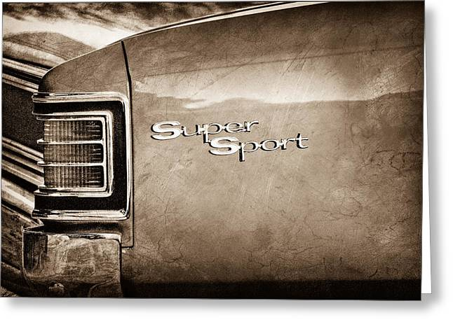1967 Chevrolet Chevelle Ss Super Sport Taillight Emblem Greeting Card by Jill Reger