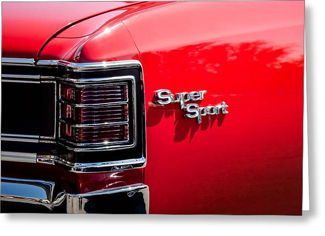 1967 Chevrolet Chevelle Ss Taillight Emblem -0468c Greeting Card