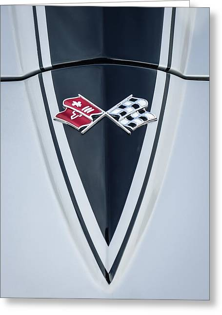 1967 Chevrolet Corvette Coupe Hood Emblem Greeting Card