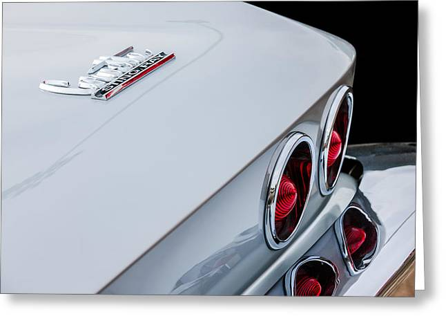 1967 Chevrolet Corvette Coupe Taillight Emblem Greeting Card by Jill Reger