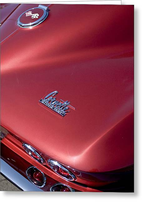 1967 Chevrolet Corvette Taillight Emblems Greeting Card by Jill Reger