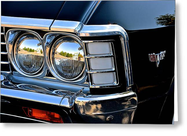 1967 Chevy Impala Front Detail Greeting Card