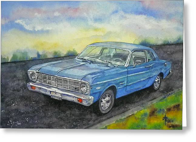 1967 Ford Falcon Futura Greeting Card