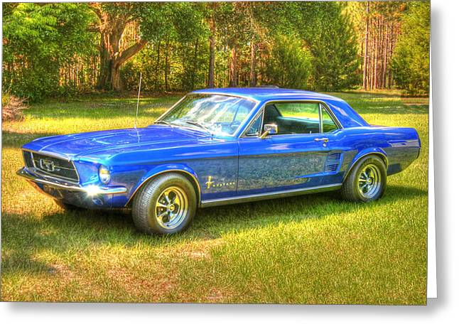 1967 Ford Mustang Greeting Card by Donald Williams