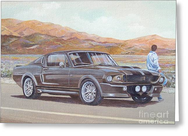 1967 Ford Mustang Fastback Greeting Card