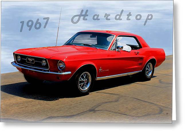 1967 Ford Mustang Hardtop Greeting Card by Betty Northcutt