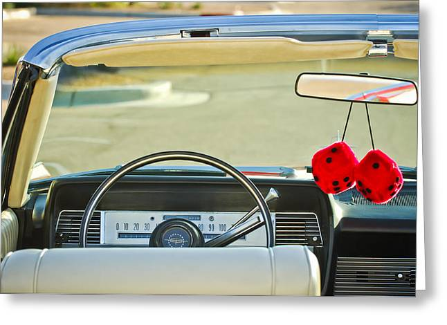 1967 Lincoln Continental Steering Wheel -014c Greeting Card by Jill Reger