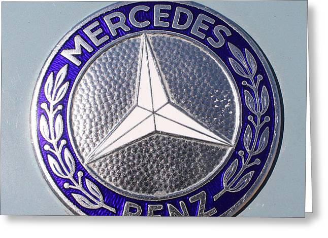 1967 Mercedes Benz Logo Greeting Card by John Telfer