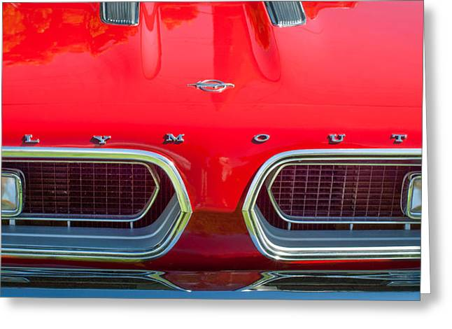 1967 Plymouth Barracuda Grille Emblem Greeting Card by Jill Reger