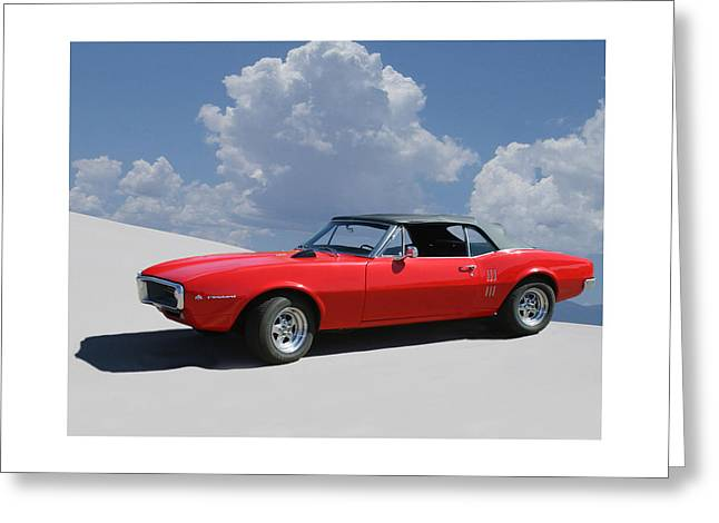 1967 Pontiac Firebird Convertible Greeting Card