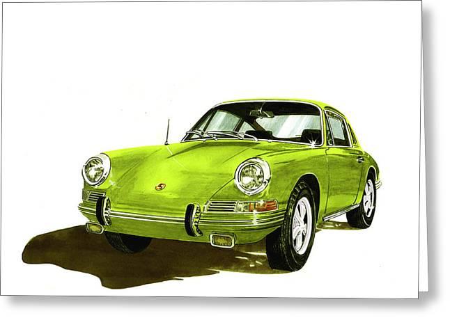 Porsche 911 Sportscar Greeting Card