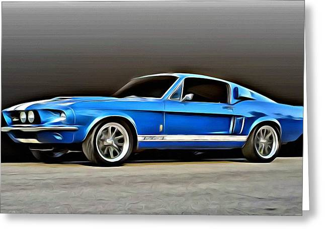 Greeting Card featuring the painting 1967 Shelby Mustang Gt500 by Florian Rodarte