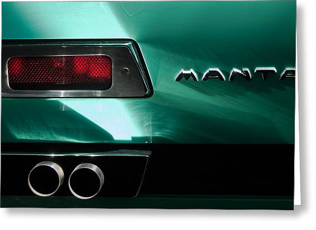 1968 Bizzarrini Manta Taillight Emblem Greeting Card
