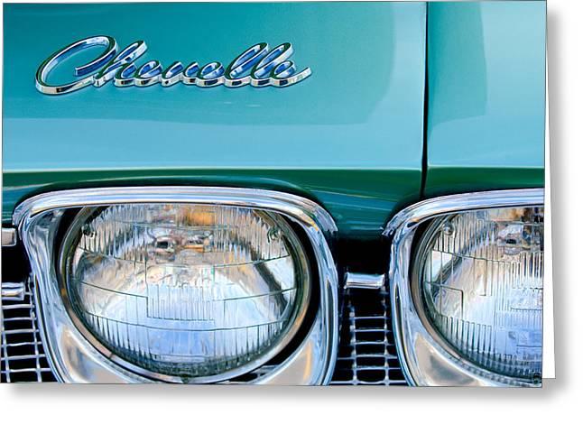 1968 Chevrolet Chevelle Headlight Greeting Card by Jill Reger