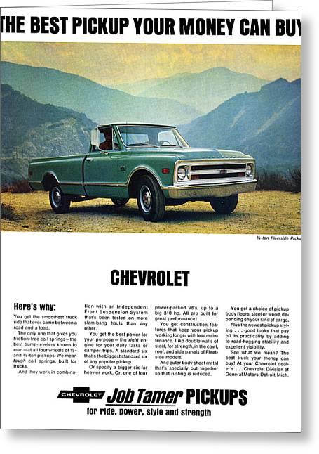 1968 Chevy 3/4 Ton Fleetside Pickup Truck Greeting Card