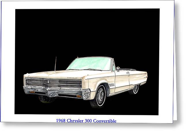 1968 Chrysler 300 Convertible Greeting Card