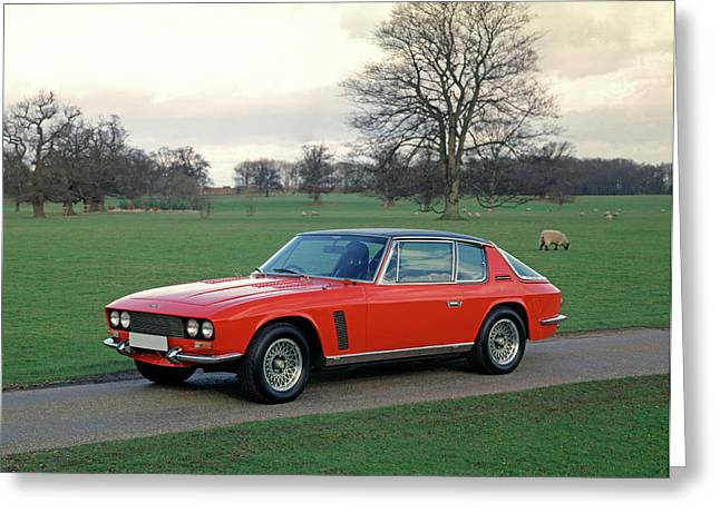 1968 Jensen Intereptor Mki Racing Greeting Card by Panoramic Images
