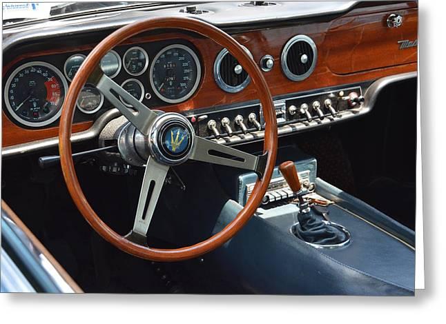 1968 Maserati Interior Greeting Card