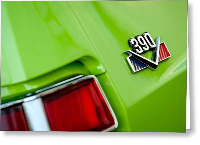 1969 Amc Amx California 500 Special Emblem Greeting Card