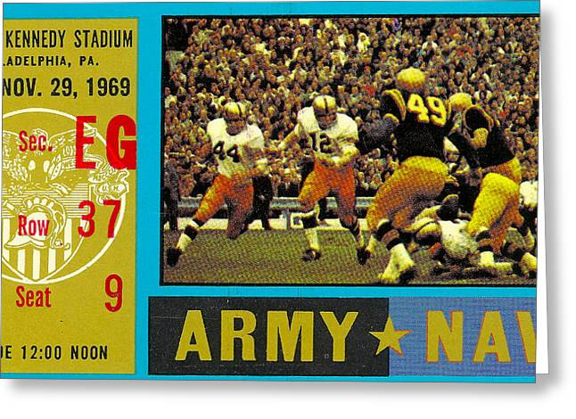 1969 Army Navy Ticket Greeting Card
