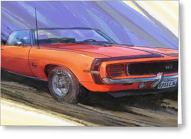 1969 Camaro Ss L34 Greeting Card