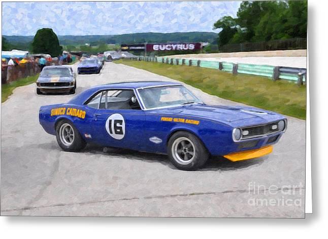 1969 Camaro Z28 Trans-am Race Car Greeting Card