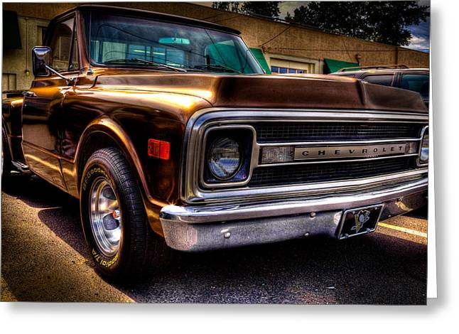 1969 Chevrolet Pickup Iv Greeting Card by David Patterson