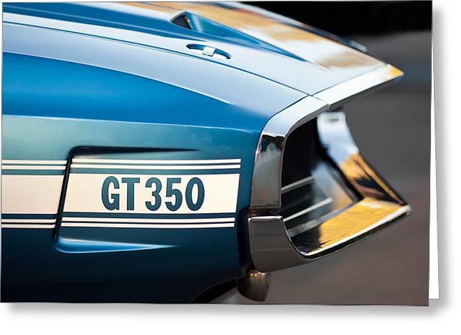 1969 Ford Shelby Gt 350 Convertible Emblem Greeting Card by Jill Reger