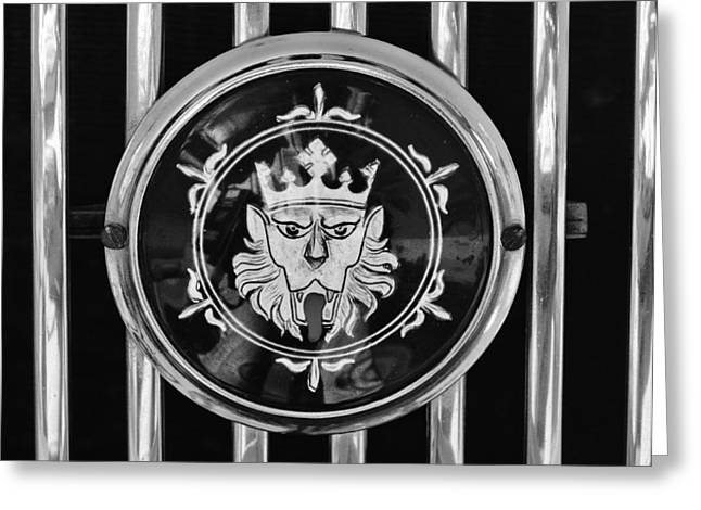 1969 Morgan Roadster Grille Emblem 3 Greeting Card