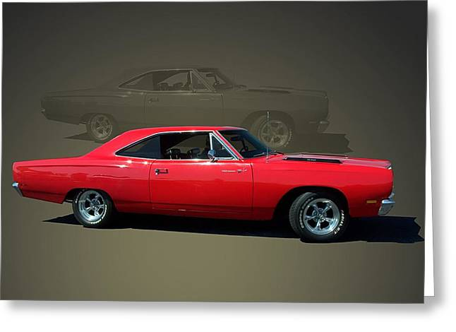 1969 Plymouth 440 Roadrunner Greeting Card