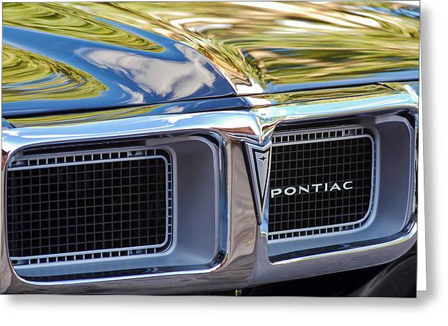 1969 Pontiac Firebird 400 Grille Greeting Card by Jill Reger
