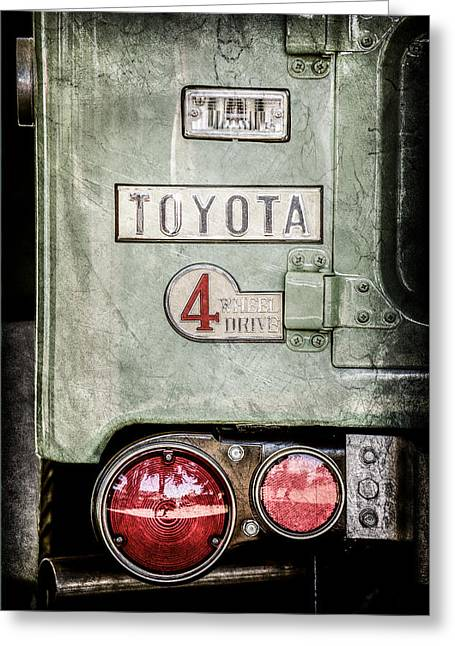 1969 Toyota Fj-40 Land Cruiser Taillight Emblem -0417ac Greeting Card by Jill Reger
