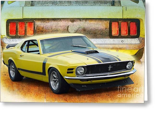 1970 Boss 302 Mustang Greeting Card