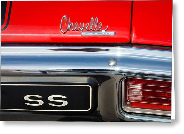 1970 Chevrolet Chevelle Ss Emblem Greeting Card