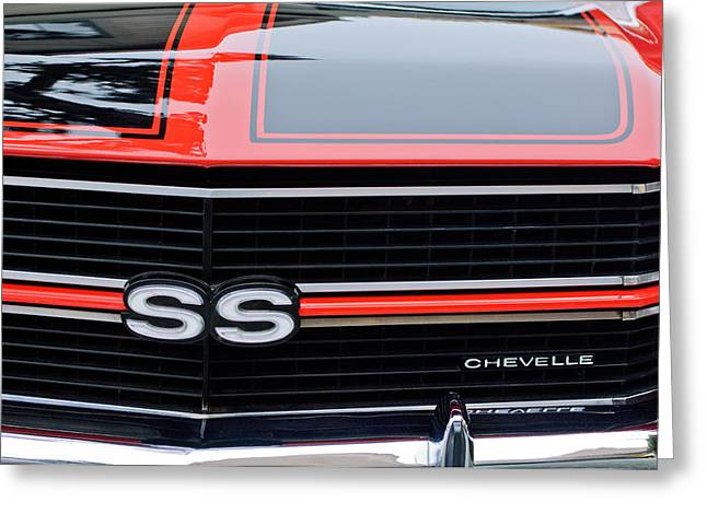1970 Chevrolet Chevelle Ss Grille Emblem Greeting Card
