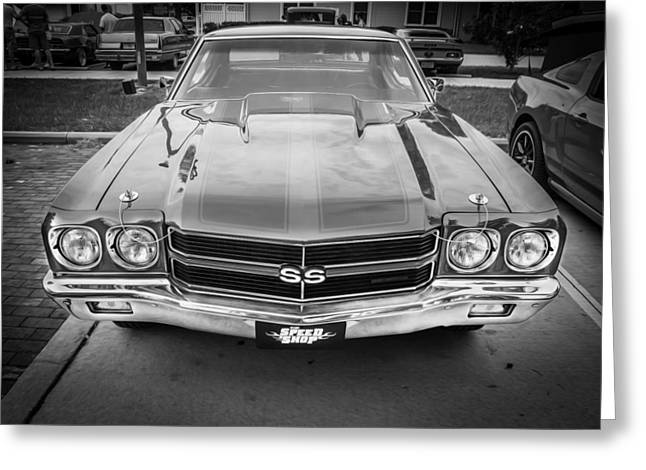 1970 Chevy Chevelle 454 Ss Painted Bw   Greeting Card