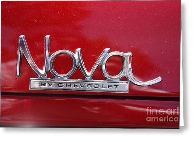 1970 Chevy Nova Logo Greeting Card by John Telfer
