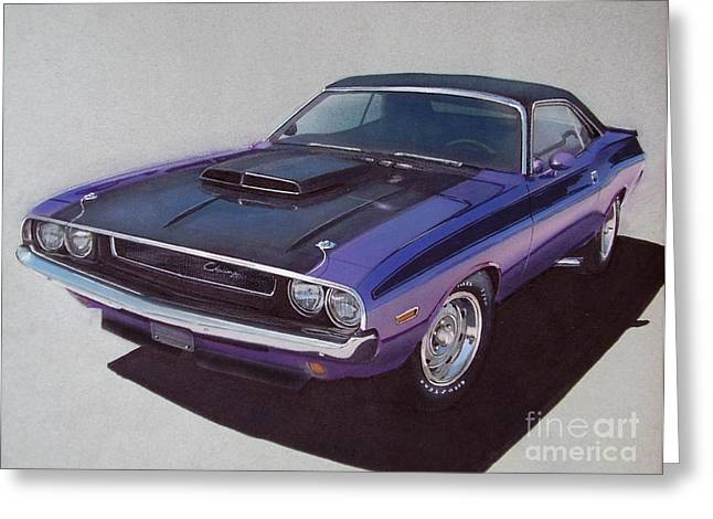 1970 Dodge Challenger Greeting Card by Paul Kuras