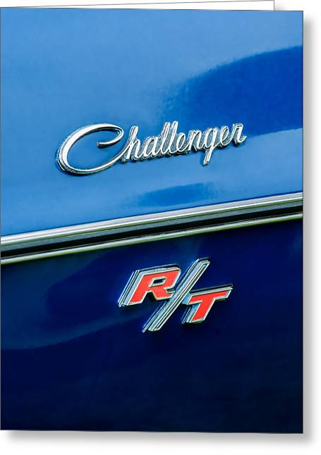1970 Dodge Challenger Rt Convertible Emblem Greeting Card by Jill Reger