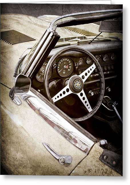 1970 Jaguar Xe Type-e Steering Wheel -1061ac Greeting Card by Jill Reger