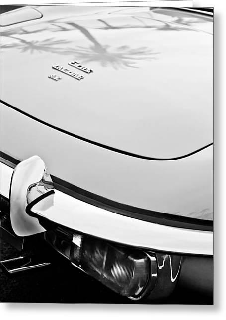 1970 Jaguar Xk Type-e Taillight Emblem Greeting Card by Jill Reger