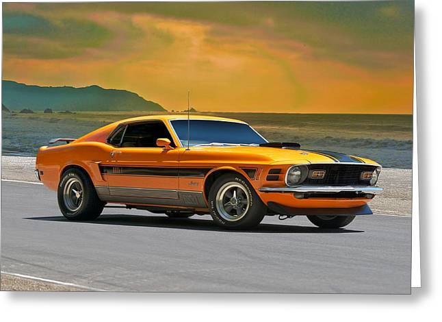 1970 Mustang Mach 1 Greeting Card by Dave Koontz